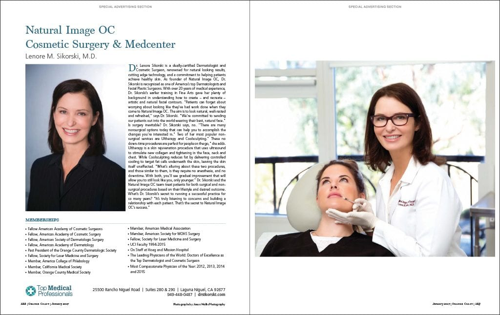 Dr. Sikorski Featured as a Top Medical Professional in the Orange County area.