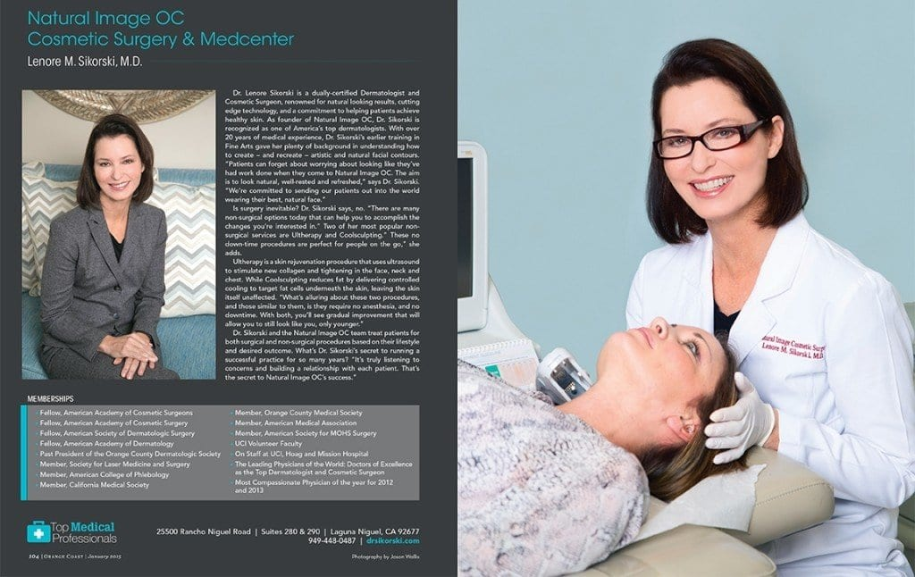 Dr. Sikorski Featured as a Top Medical Professional in Orange Coast Magazine